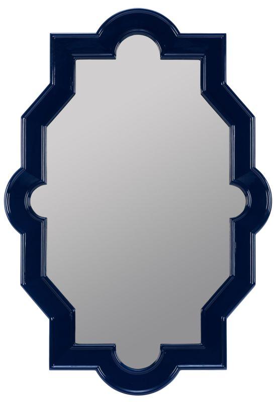 """Cooper Classics 41082 Trish 46"""" X 32"""" Mirror Lacquered Cobalt Home"""