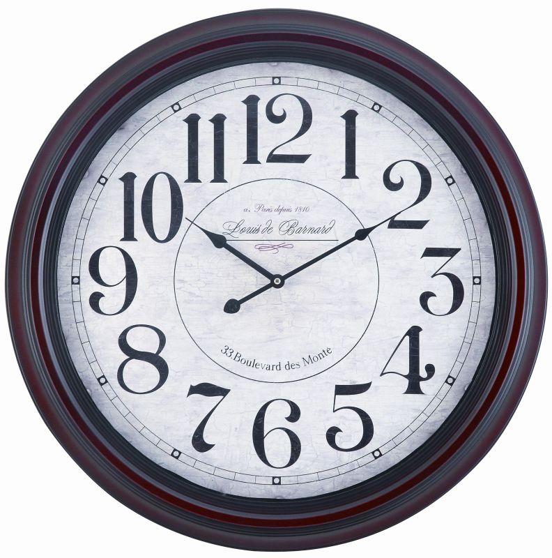 """Cooper Classics 4818 Calhoun 24.5"""" X 24.5"""" Wall Clock Dark Mahogany"""