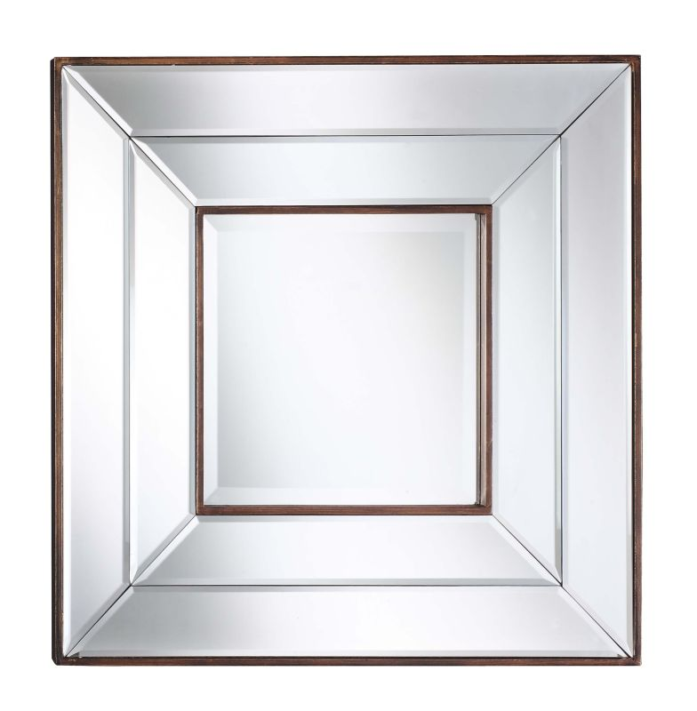 "Cooper Classics 4862 Clarence 20"" X 20 Square"" Wall Mirror Bronze Home"