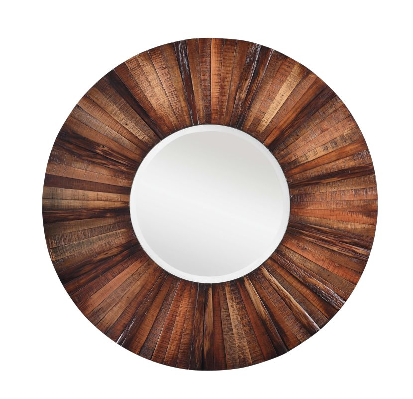"Cooper Classics 4880 Kona 36"" X 36 Round"" Wall Mirror Dark Natural"
