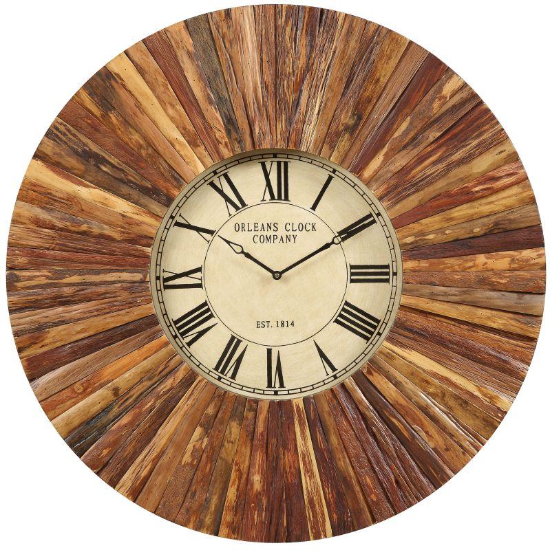 """Cooper Classics 4932 Chatham 36"""" X 36"""" Wall Clock Natural Rustic Wood"""