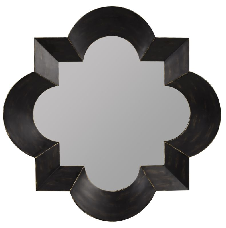 "Cooper Classics 4933 Kristen 49.5"" X 49.5"" Wall Mirror Black Home"