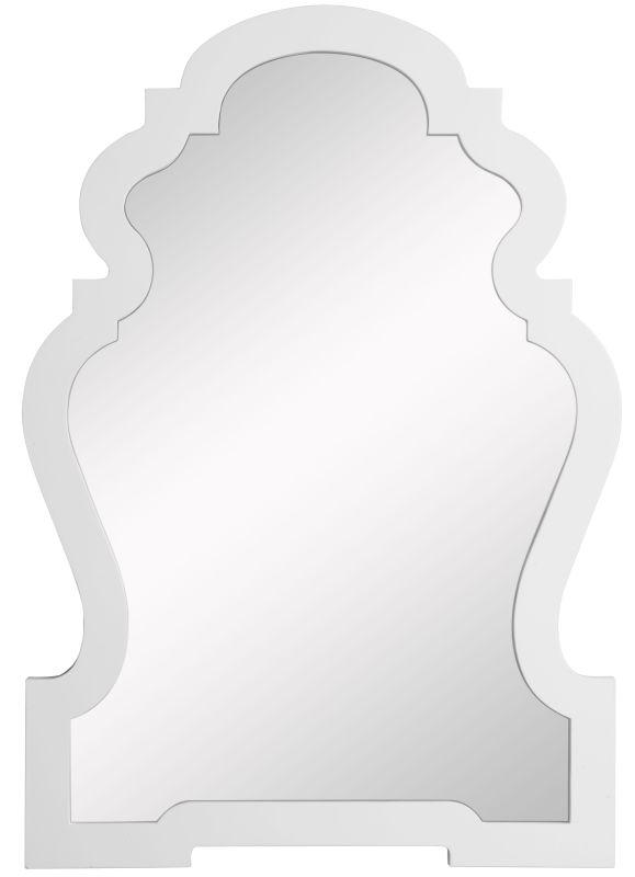 """Cooper Classics 4935 Lawson 38"""" X 26"""" Wall Mirror Glossy White Home"""