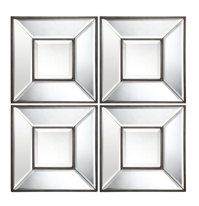 "Cooper Classics 4951 Olivia Set of 4 - 12"" X 12 Square"" Wall Mirrors"