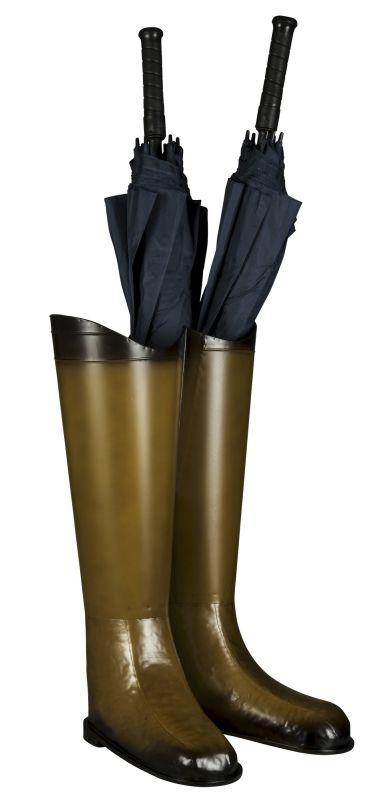 """Cooper Classics 6309 Visola 23"""" X 14.25"""" Umbrella Stand Brown Metal"""