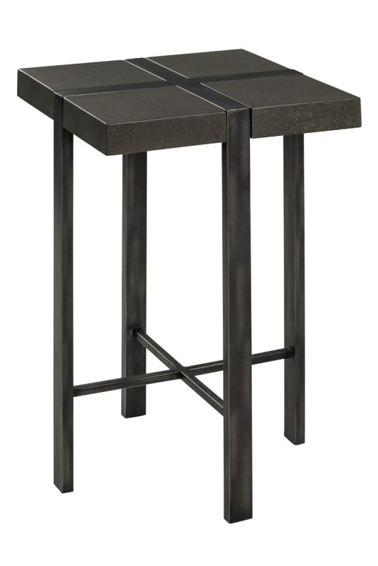Cooper Classics 6323 Fontana Metal and Concrete Side Table Gray Metal