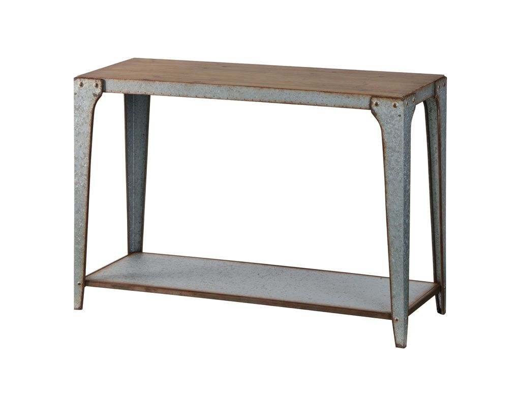 Cooper Classics 6327 Oswald Wood and Metal Console Table Galvanized