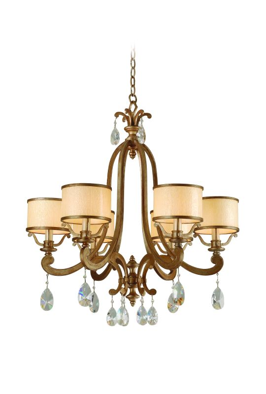 Corbett Lighting 71-06 6 Light Chandelier from the Roma Collection