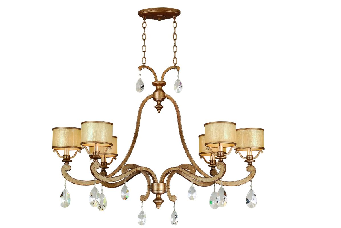 Corbett Lighting 71-56 6 Light Island / Billiard Fixture from the Roma Sale $2482.00 ITEM: bci576796 ID#:71-56 UPC: 782042927414 :