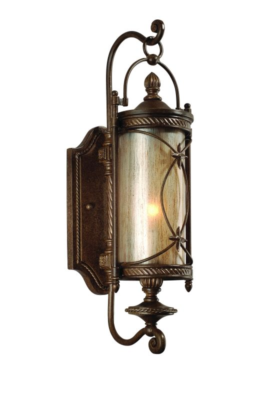 Metal Outdoor Wall Sconces : Corbett Lighting 76-21 Moritz Bronze Finish Wrought Iron Single Light Outdoor Wall Sconce from ...