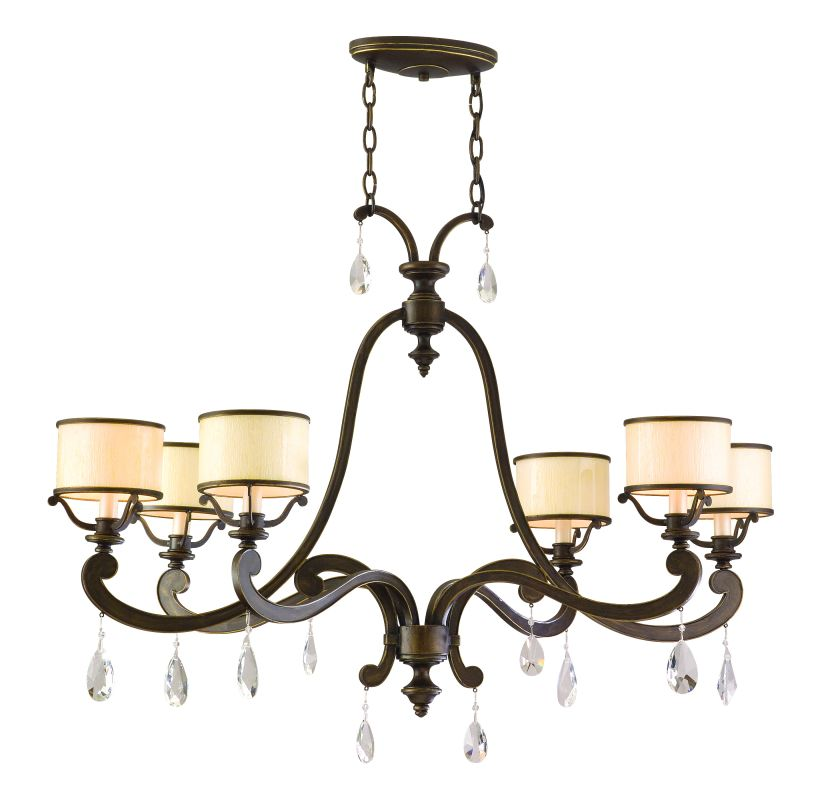 Corbett Lighting 86-56 Six Light Island / Billiard Fixture From The Sale $2482.00 ITEM: bci1356960 ID#:86-56 UPC: 782042951174 :