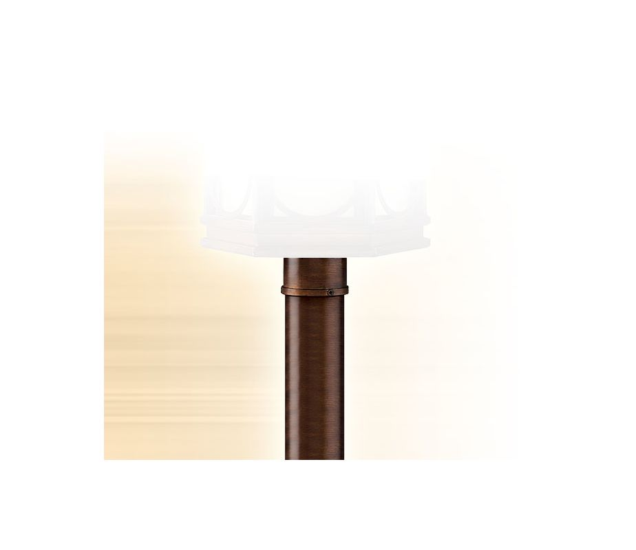 "Corbett Lighting CPM-84 3"" Outdoor Post Light Post Holmby Hills Bronze"