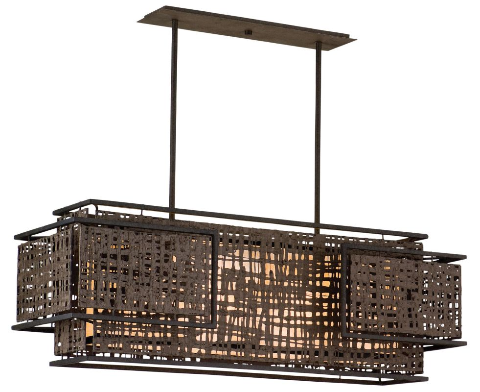 Corbett Lighting 105-54 Shoji 4 Light Linear Chandelier with Hand Sale $1590.00 ITEM: bci1356969 ID#:105-54 UPC: 782042992399 :