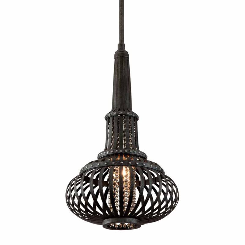 "Corbett Lighting 136-41 1 Light 25.5"" Height Round Caged Pendant with"