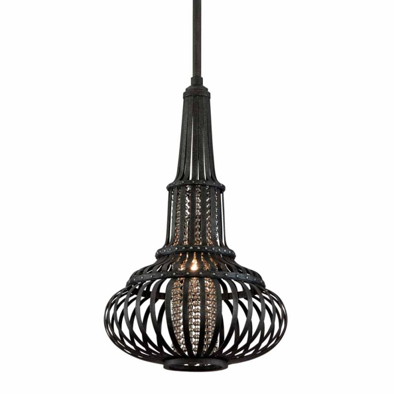 "Corbett Lighting 136-42 1 Light 29.5"" Height Round Caged Pendant with"