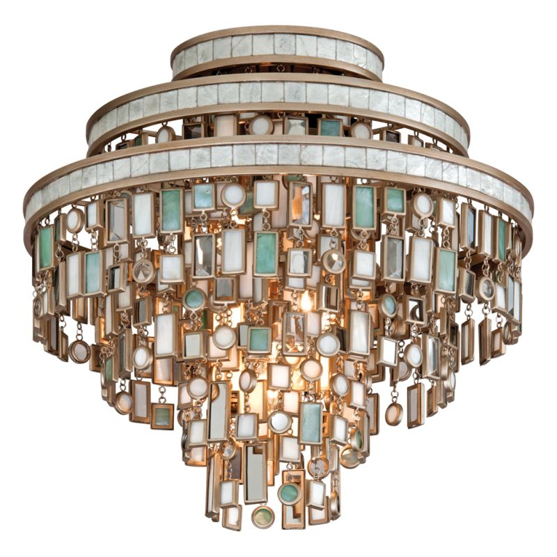 Corbett Lighting 142-33 Dolcetti 3 Light Semi-Flush Ceiling Fixture