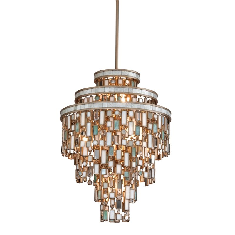 Corbett Lighting 142-47 Dolcetti 7 Light Pendant with Hand Crafted