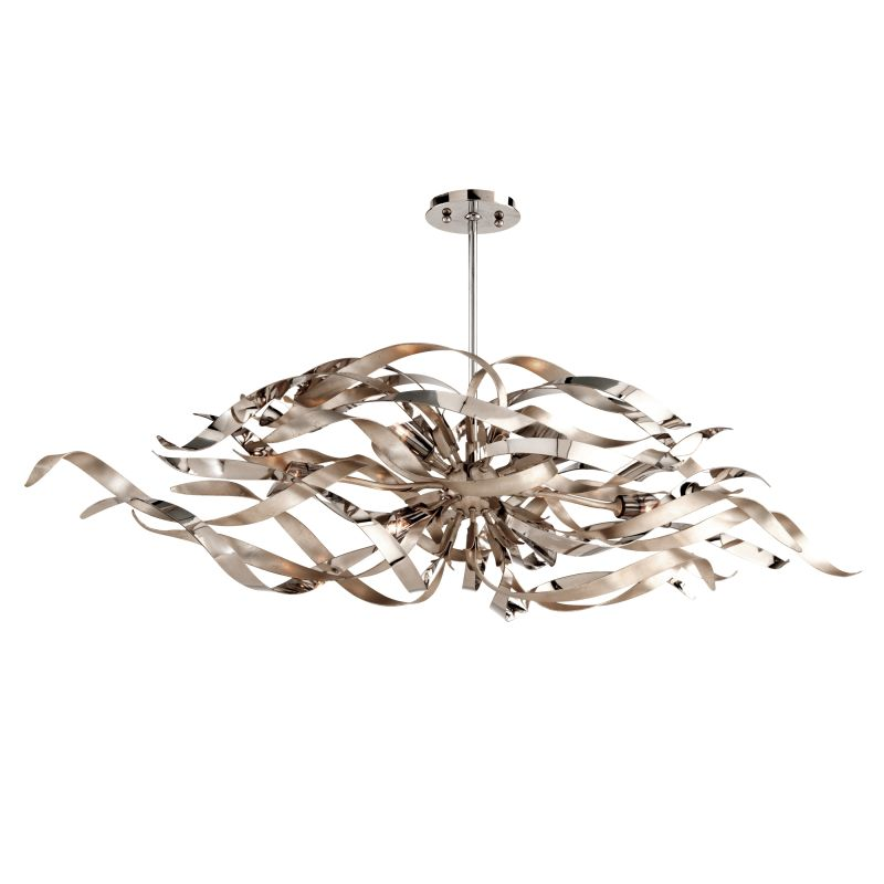 Corbett Lighting 154-56 Graffiti 6 Light Modern Linear Chandelier with