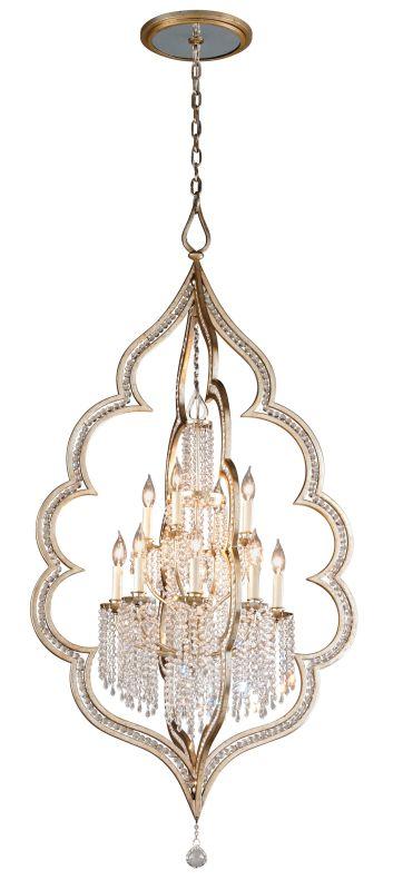 Corbett Lighting 161-412 Bijoux 12 Light Crystal Accent Foyer Pendant