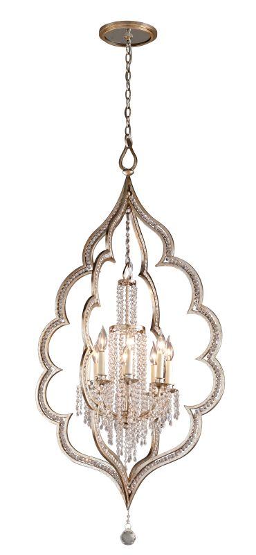 Corbett Lighting 161-48 Bijoux 8 Light Crystal Accent Foyer Pendant