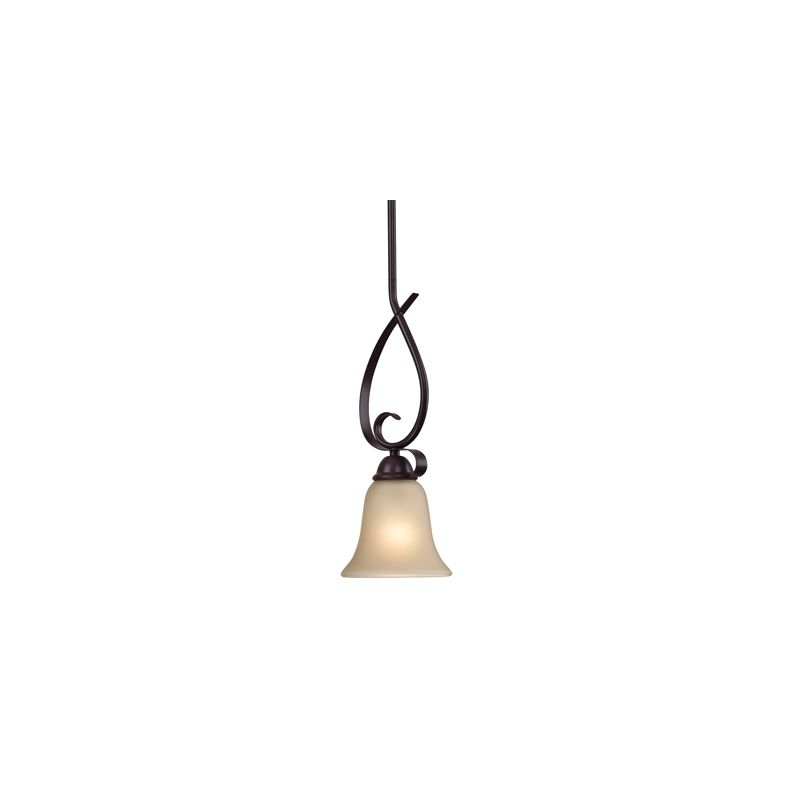 Cornerstone Lighting 1001PS Brighton 1 Light Mini Pendant with Frosted