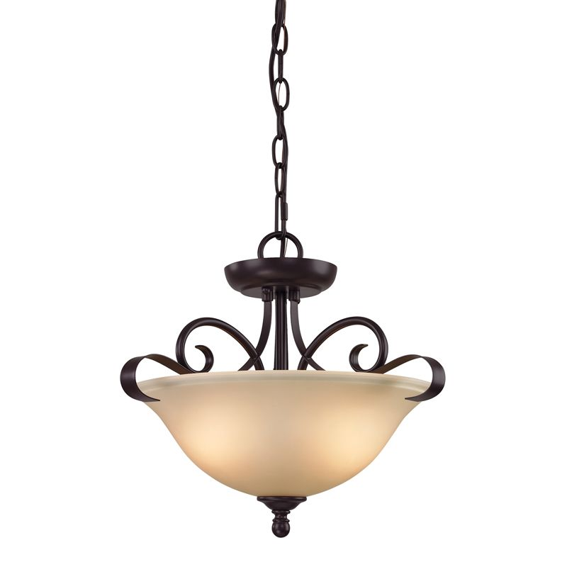 Cornerstone Lighting 1002CS Brighton 2 Light Bowl Pendant with Frosted