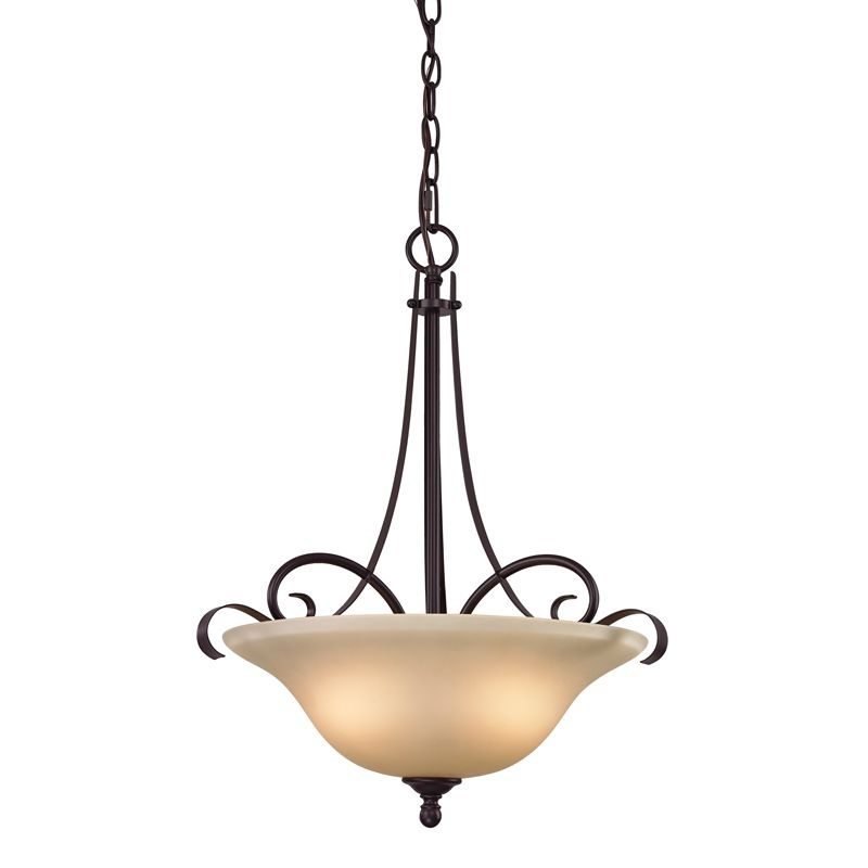 Cornerstone Lighting 1003PL Brighton 3 Light Bowl Pendant with Frosted