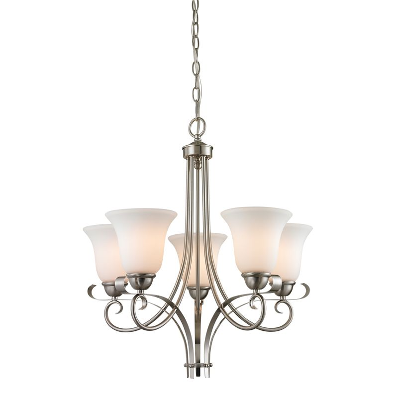 Cornerstone Lighting 1005CH Brighton 5 Light 1 Tier Chandelier with Sale $258.00 ITEM: bci2269497 ID#:1005CH/20 UPC: 830335021636 :