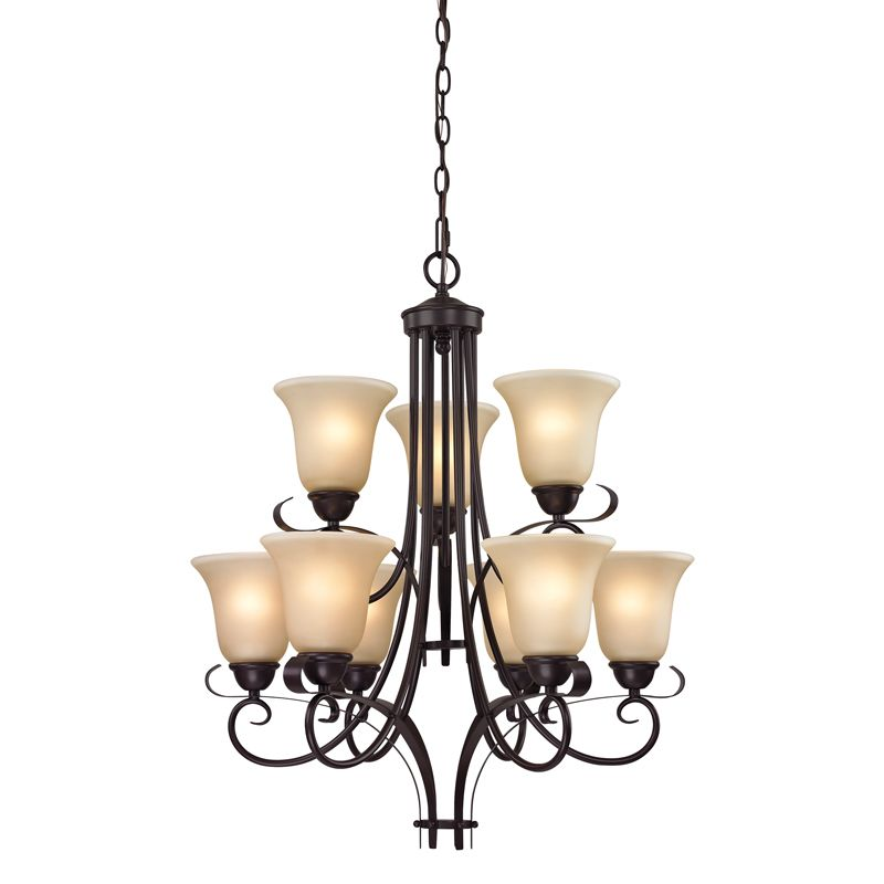 Cornerstone Lighting 1009CH Brighton 9 Light 2 Tier Chandelier with Sale $438.00 ITEM: bci2269508 ID#:1009CH/10 UPC: 830335021742 :