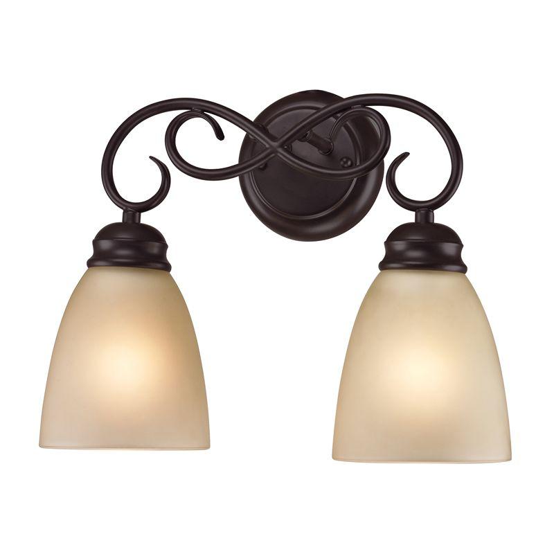 Cornerstone Lighting 1102BB Chatham 2 Light Bathroom Vanity Light with