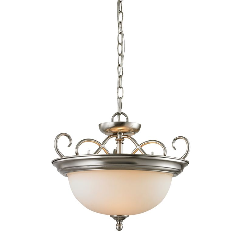 Cornerstone Lighting 1102CS Chatham 2 Light Bowl Pendant with Frosted