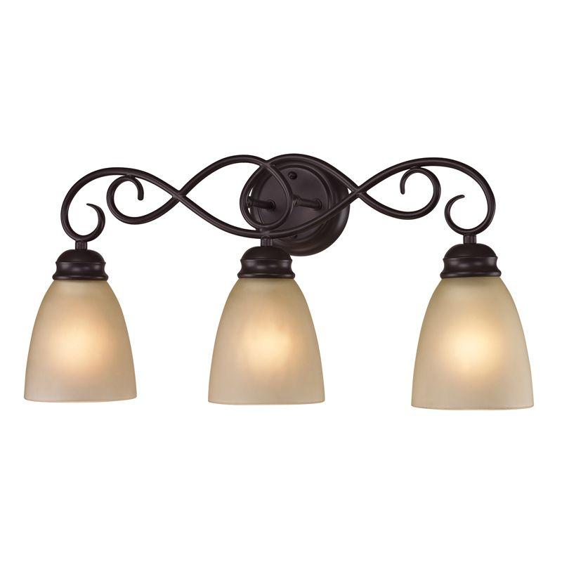Cornerstone Lighting 1103BB Chatham 3 Light Bathroom Vanity Light with