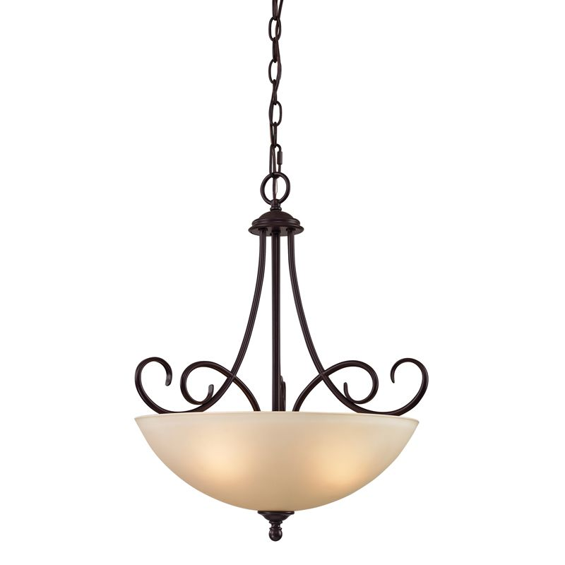 Cornerstone Lighting 1103PL Chatham 3 Light Bowl Pendant with Frosted
