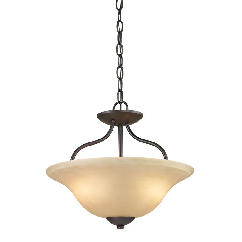 Cornerstone Lighting 1202CS Conway 2 Light Bowl Pendant with Frosted