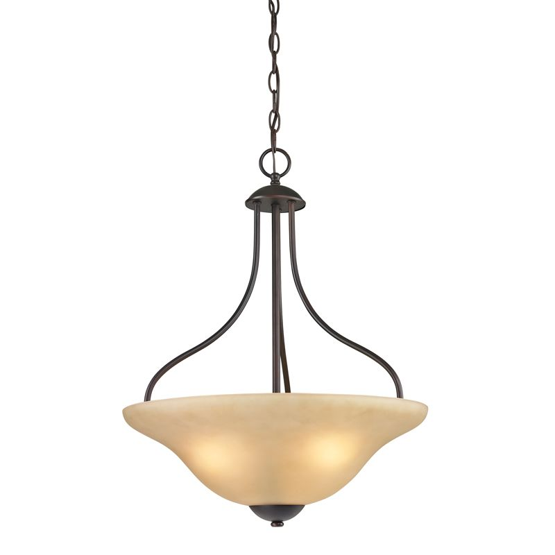 Cornerstone Lighting 1203PL Conway 3 Light Bowl Pendant with Frosted