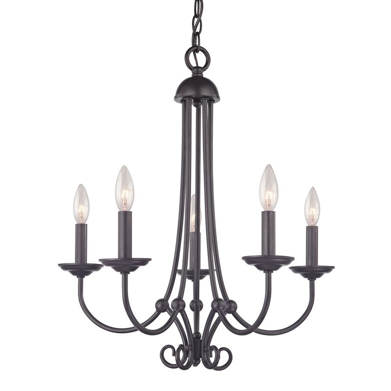 Cornerstone Lighting 1505CH Williamsport 5 Light 1 Tier Candle Style