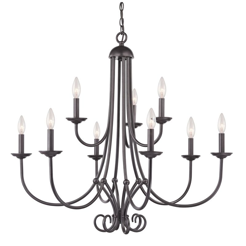 Cornerstone Lighting 1509CH Williamsport 9 Light 2 Tier Candle Style