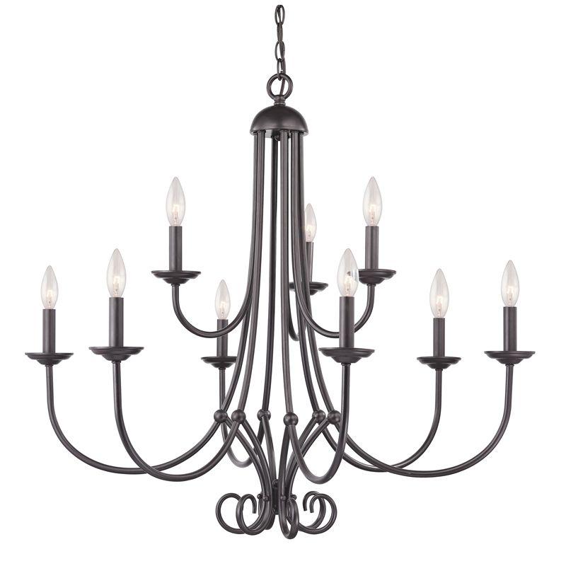 Cornerstone Lighting 1509CH Williamsport 9 Light 2 Tier Candle Style