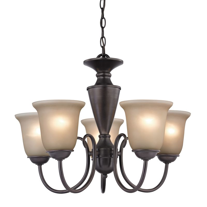 Cornerstone Lighting 1605CH Greenville 5 Light 1 Tier Chandelier with