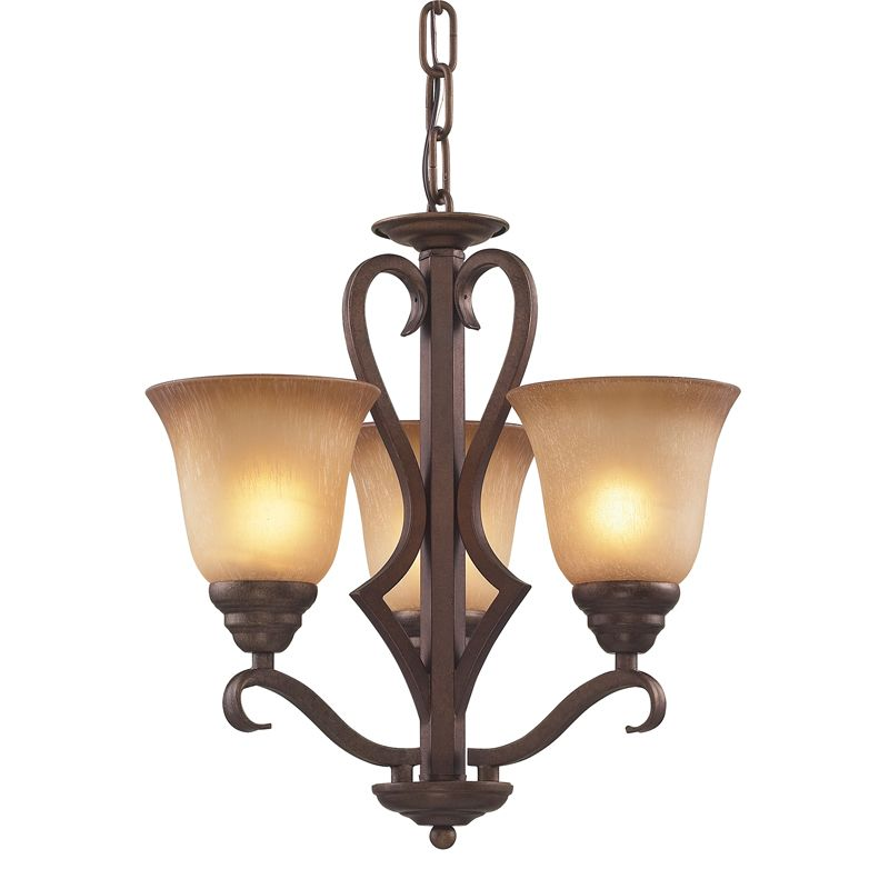 Cornerstone Lighting 1803CH Lawrenceville 3 Light 1 Tier Chandelier