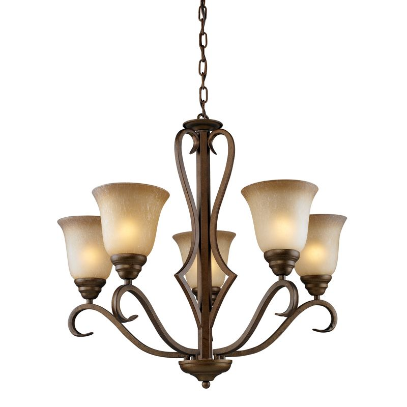 Cornerstone Lighting 1805CH Lawrenceville 5 Light 1 Tier Chandelier