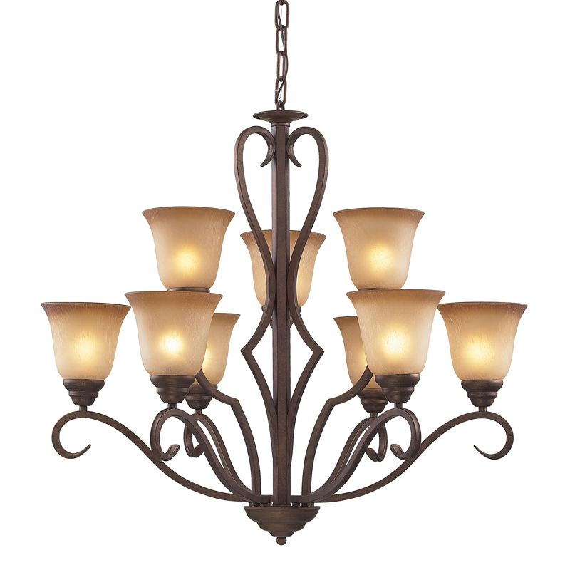 Cornerstone Lighting 1809CH Lawrenceville 9 Light 2 Tier Chandelier