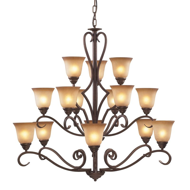 Cornerstone Lighting 1815CH Lawrenceville 12 Light 3 Tier Chandelier