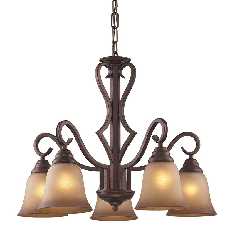 Cornerstone Lighting 1825CH Lawrenceville 5 Light 1 Tier Chandelier