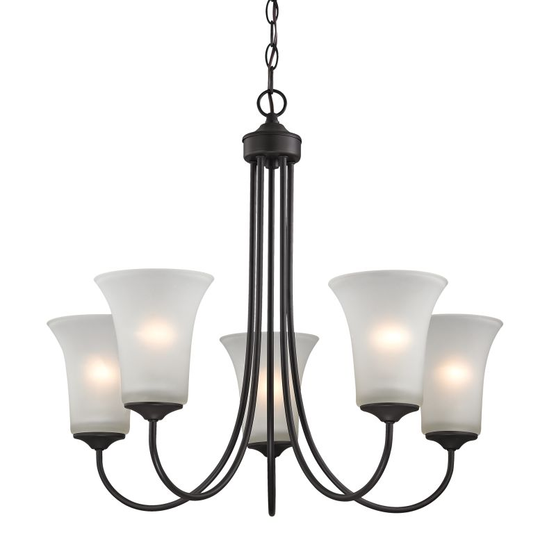 Cornerstone Lighting 1915CH Charleston 5 Light 1 Tier Shaded