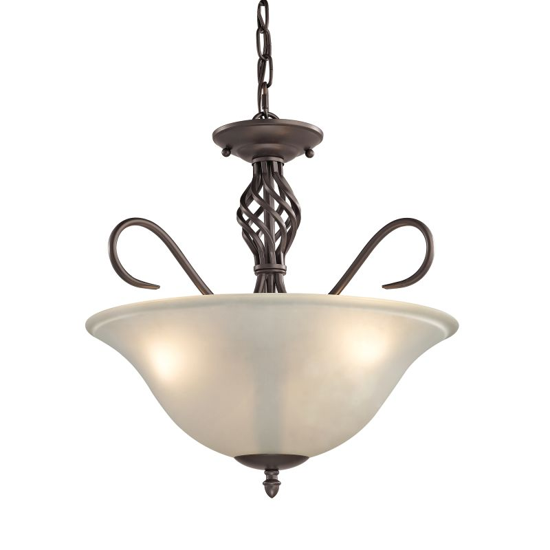 Cornerstone Lighting 2203CS Santa Fe Convertible 3 Light Semi-Flush Sale $198.00 ITEM: bci2673880 ID#:2203CS/10 UPC: 748119075679 :