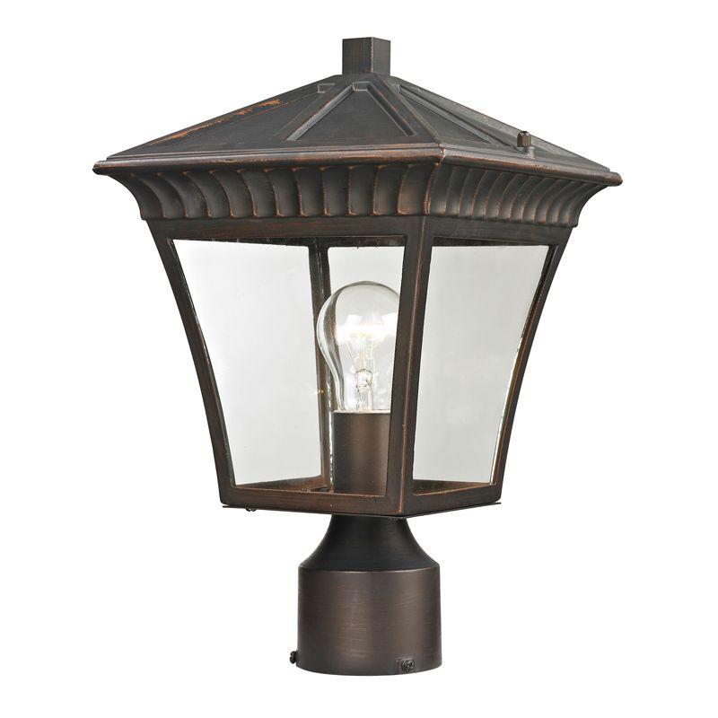 Cornerstone Lighting 8411EP Ridgewood 1 Light Outdoor Post Light with