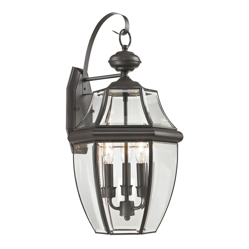 Cornerstone Lighting 8603EW Ashford 3 Light Outdoor Wall Sconce with