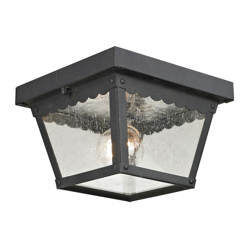 Cornerstone Lighting 9102EF Springfield 1 Light Outdoor Flush Mount Sale $36.00 ITEM: bci2269447 ID#:9102EF/65 UPC: 830335023470 :