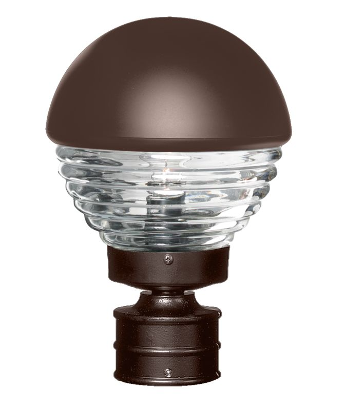 Costaluz 3061-POST 1 Light Incandescent Post Light with Clear Glass